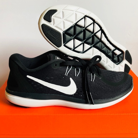 Nike Flex 2017 RN Run Black Women's Running Shoes Size 7